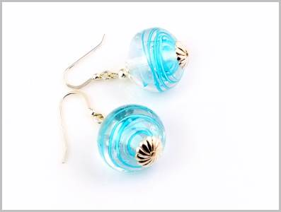 Tycoon Boucles d'oreilles Verre Murano