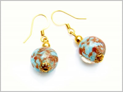 Marly Boucles d'oreilles Verre Murano